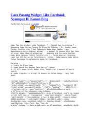 cara pasang widget like facebook nyumput di kanan blog.docx