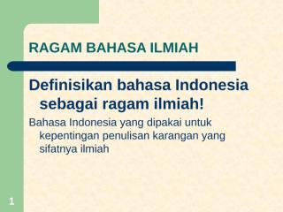 RAGAM BAHASA ILMIAH.ppt