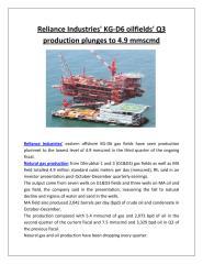 Reliance Industries' KG-D6 oilfields' Q3 production plunges to 4.9 mmscmd.pdf