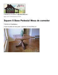 Square X Base Pedestal Mesa de comedor.pdf