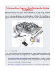 Architecture Home Programs - Three Techniques for Selecting the Right Plans.pdf