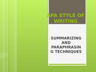 paraphrasing and summarizing techniques.pptx