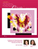 The Secrets to Finding True Love 2014 Seminar 00- Series Introduction--The 4 Obstacles to Love.pdf