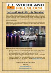 Locksmith West Hills – An Overview!.pdf