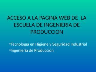 ACCESO A LA PAGINA WEB DE LA ESCUELA.pps