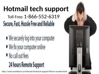 1-866-552-6319 Hotmail tech support number 2.pptx