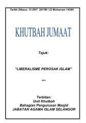 KHUTBAH 13.10.2017 (RUMI) FAHAMAN LIBERAL PEROSAK ISLAM.pdf
