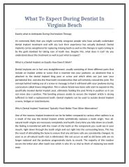What To Expect During Dentist In Virginia Beach.doc