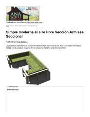 Simple moderna al aire libre Sección Armless Seccional.pdf