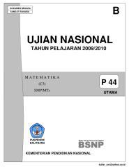 Ujian Nasional SMP 2009-2010 (B).pdf