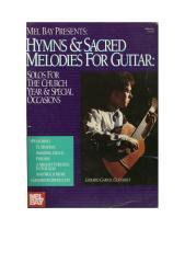 Partituras Acoustic Guitar - Hinos evangélicos - álbum completo para violão solo.doc
