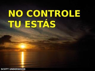 NO CONTROLE.ppt