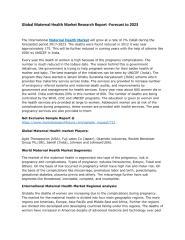 Global Maternal Health Market Research Report.pdf
