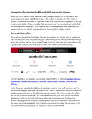Manage the Silent Auction Site Efficiently With the Auction Software (1).docx