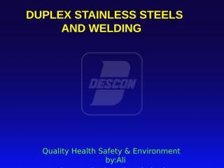 duplex stainless steel welding.ppt
