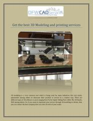 Get the best 3D Modeling and printing services.pdf