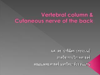 Vertebral_column_&_Cutaneous_nerve_of_the_back_2003.Pch.ppt