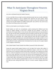 What To Anticipate Throughout Veneers Virginia Beach.doc