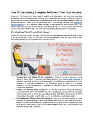 Hire IT Consultancy Company To Protect Your Data Securely-GetBackYourPrivacy.com.pdf