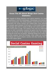 Know The All About Bingo And Casino Statistics .pdf