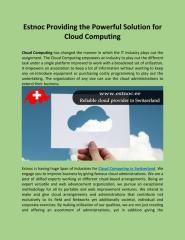 Estnoc Providing the Powerful Solution for Cloud Computing.pdf