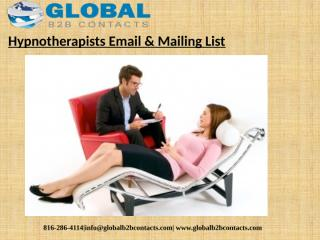 Hypnotherapists Email & Mailing List (1).pptx