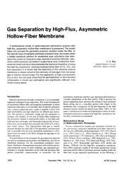 Gas separation by high-flux, asymmetric hollow-fiber membrane.pdf