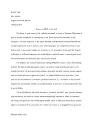 Macbeth Motif Essay.doc